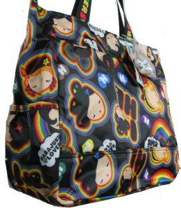 Harajuku Lovers CANDY Rainbow Girls Large Travel Tote Bag NWT Style 8301HL