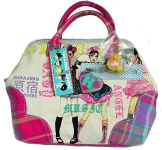 Harajuku Lovers GOSSIP Mad for Madras Framed Purse Satchel Bag NWT Style 8718HL