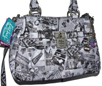 Kathy Van Zeeland POSTMAN SATCHEL Cross Body Travel Print Bag Purse NWT