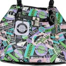 Kathy Van Zeeland Large POSTMAN Travel Print Tote Bag Purse NWT