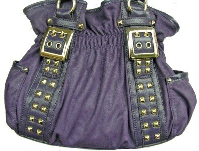 Kathy Van Zeeland DUBAI ROYAL PURPLE Belt Shopper Bag Purse NWT