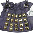 Kathy Van Zeeland PYRAMID PARADISE ROYAL PURPLE Belt Shopper Bag Purse NWT