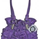 Kathy Van Zeeland Finders Keepers Purple Belt Shopper Bag Purse NWT