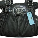 Kathy Van Zeeland MONEY TALKS Black Belt Shopper Bag Purse