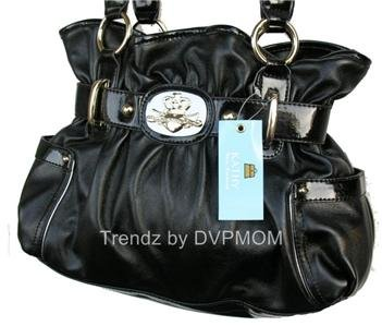 Kathy Van Zeeland Black Dazzling Daisy Belt Shopper Bag