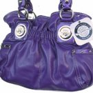 Kathy Van Zeeland Tie Dye For Purple Belt Shopper Bag