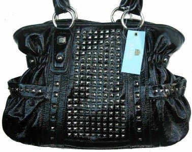 Kathy Van Zeeland Black All Star Belt Shopper Bag Purse