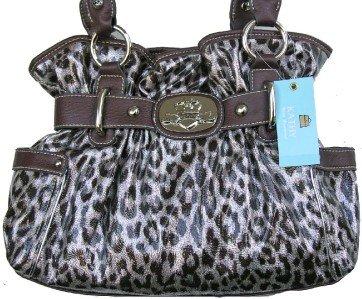 Kathy Van Zeeland CHROME LEOPARD DAZZLING DAISY Bag