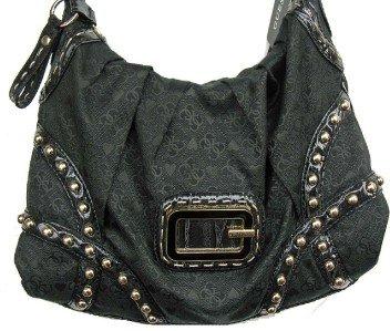 GUESS RARE Black Kyoto Signature Handbag Purse Bag NWT