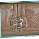 Kathy Van Zeeland Brass Patent Pending Clutch Wallet