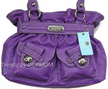 Kathy Van Zeeland VIOLA LADY LOOP Belt Shopper Bag NWT