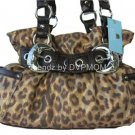 Kathy Van Zeeland Gold Leopard Rock Roll Belt Shopper