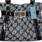 Kathy Van Zeeland Black Coated Candy Belt Shopper BAG