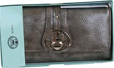 Kathy Van Zeeland Charcoal Patent Pending Clutch Wallet