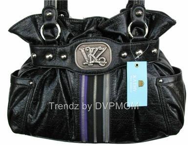 Kathy Van Zeeland Starstruck Black Belt Shopper Bag