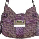 GUESS Purple Clover Signature Logo Hobo NWT SI227201