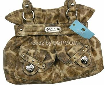 Kathy Van Zeeland GIRAFFE Lady Loop Belt Shopper Bag