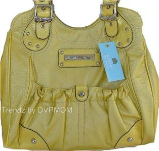 Kathy Van Zeeland Banana Casual Pocket Shopper Bag NWT