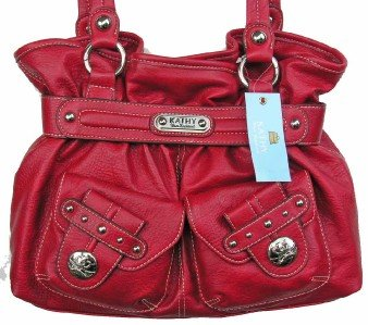 Kathy Van Zeeland PEPPER RED LADY LOOP Belt Shopper
