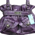 Kathy Van Zeeland PLUM LADY LOOP Belt Shopper Bag NWT
