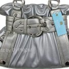 Kathy Van Zeeland Grey Silver STRAP UP Belt Shopper