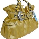 Kathy Van Zeeland LEMON SHINERS Belt Buckle Shopper NWT
