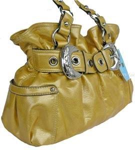 Kathy Van Zeeland LEMON SHINERS Belt Buckle Shopper NWT
