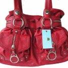 Kathy Van Zeeland RED PEPPER ZIP CODE Belt Shopper Bag
