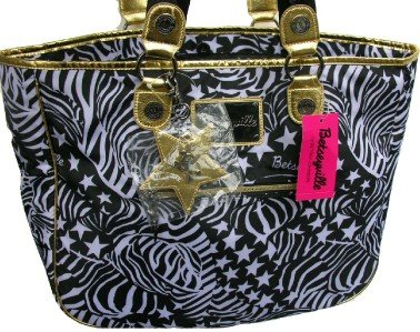 BETSEY JOHNSON BETSEYVILLE Stripe While Its Hot Tote