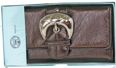 Kathy Van Zeeland Chocolate Rock and Roll Clutch Wallet