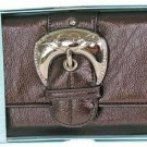Kathy Van Zeeland Chocolate Rock and Roll Clutch Wallet