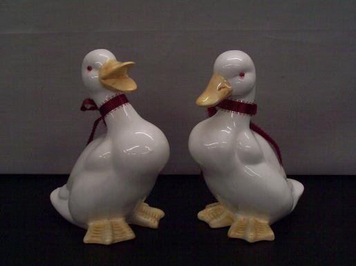 Set of Two Friendly Beautiful Decorative Ducks