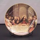 Last Supper Print Porcelain Plate with Display Stand