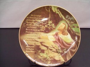 Lord�s Prayer Porcelain Plate With Display Stand