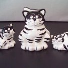 Black and White Cat Salt, Pepper and Napkin Holder
