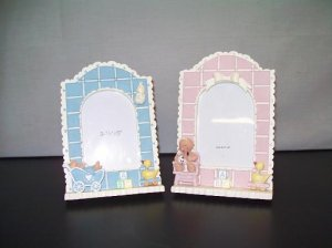 Baby Girl and Boy Quilt Photo Frames