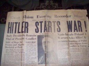 ORIGINAL ANTIQUE NEWSPAPER September 1, 1939 Edition