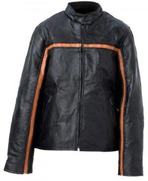 Handsewn Pebble Grain Genuine Leather Ladies Jacket