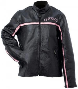 Genuine Leather Ladies Motorcycle Jacket