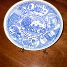 "Home of George Washington Commemorative Blue/White Plate,10"""