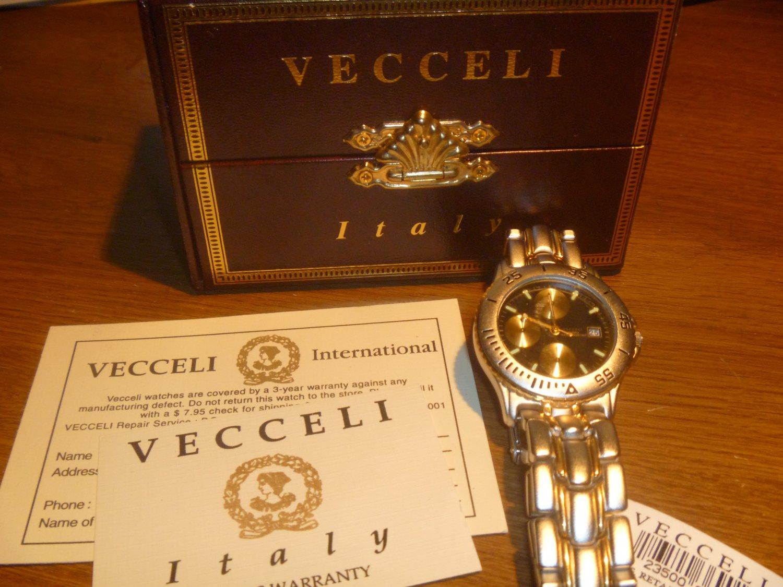 Veccelli - Men's Watch   NIB 3 Yr Warr