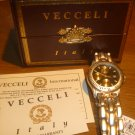 Veccelli - Men's Watch   NIB 3 Yr Warr