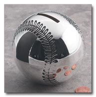 Sterlingcraft Silverplated Baseball Bank