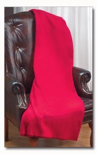 Maxam Burgundy Polyester Fleece Throw