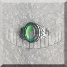 Adjustable Filigree Heart Oval Mood Ring Retro Chic Color Change Chart