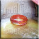 Red Agate Mood Ring Band Size 6 Color Changing Genuine Gemstone Jewelry Gift Box