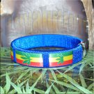 Blue Rasta Pot Leaf Bracelet Cuff Cannabis Marijuana 420 Weed Kush Adjustable