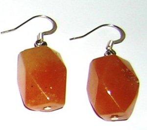 Peach Aventurin earrings