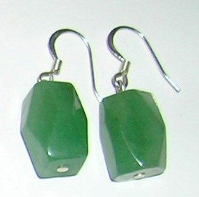 Green Aventurin earrings