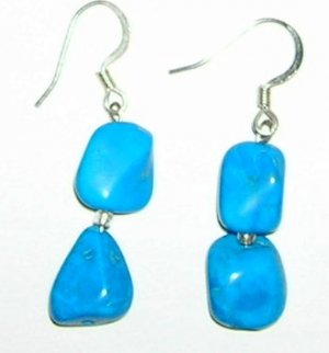 Turquoise Howalite earrings